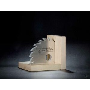 Aluminum Saw w/Wood Paperweight